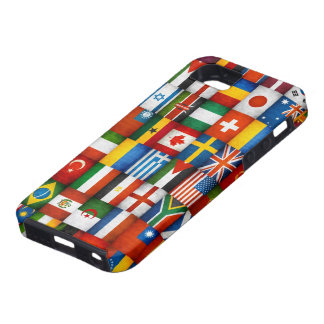Diseño del collage de las banderas del mundo del G iPhone 5 Funda