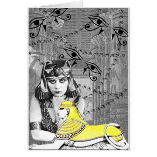Diseño del collage de Theda Bara Felicitaciones