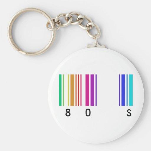 ¡diseño del color 80s! llavero personalizado