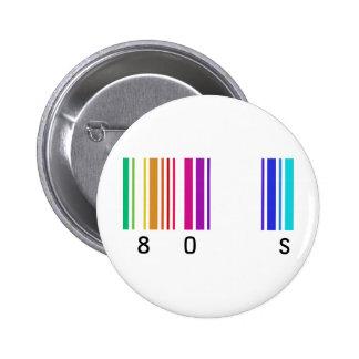 ¡diseño del color 80s! pin redondo de 2 pulgadas