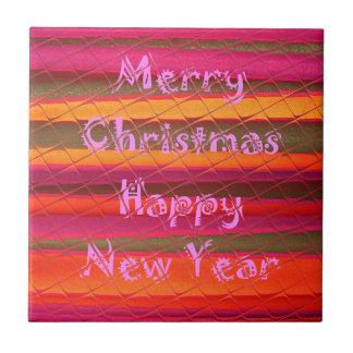 Diseño del color de la Feliz Año Nuevo de las Azulejo Cuadrado Pequeño