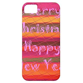 Diseño del color de la Feliz Año Nuevo de las Funda Para iPhone 5 Barely There