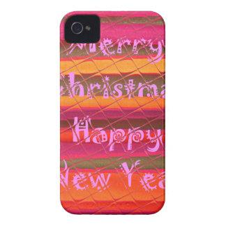 Diseño del color de la Feliz Año Nuevo de las iPhone 4 Case-Mate Cárcasas