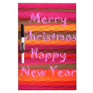 Diseño del color de la Feliz Año Nuevo de las Pizarra