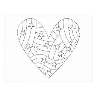 Diseño del colorante del corazón postales