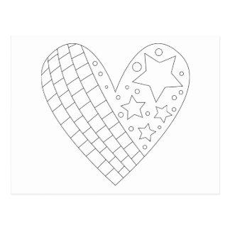 Diseño del colorante del corazón tarjeta postal