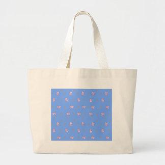 Diseño del conejito de la zanahoria bolsa tela grande