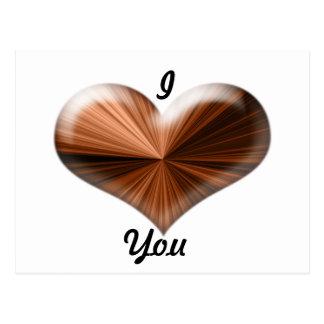 diseño del corazón 3D Tarjeta Postal