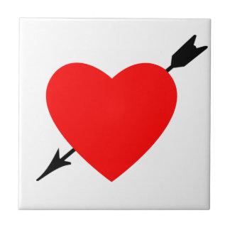 Diseño del corazón azulejo cuadrado pequeño