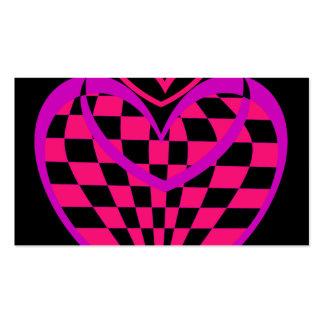 Diseño del corazón de la tarjeta de visita