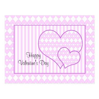 Diseño del corazón de la tarjeta del día de San Postales