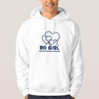 Diseño del corazón del chica del RA:: Artritis Jersey Encapuchado