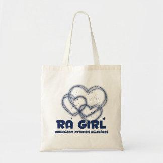 Diseño del corazón del chica del RA:: Artritis reu Bolsa Tela Barata