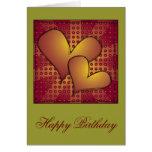 """Diseño del corazón del """"feliz cumpleaños"""" tarjetas"""