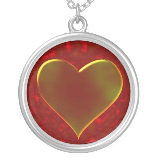 Diseño del corazón del metal fundido colgante redondo
