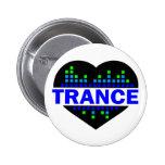Diseño del corazón del trance pin redondo 5 cm