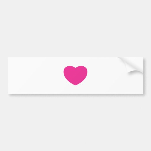 Diseño del corazón, diseño del amor pegatina para auto