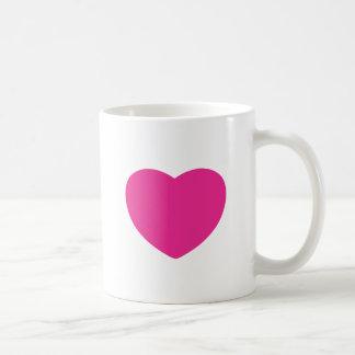 Diseño del corazón, diseño del amor taza clásica