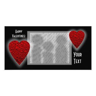 Diseño del corazón. El día de tarjeta del día de S Tarjeta Personal Con Foto