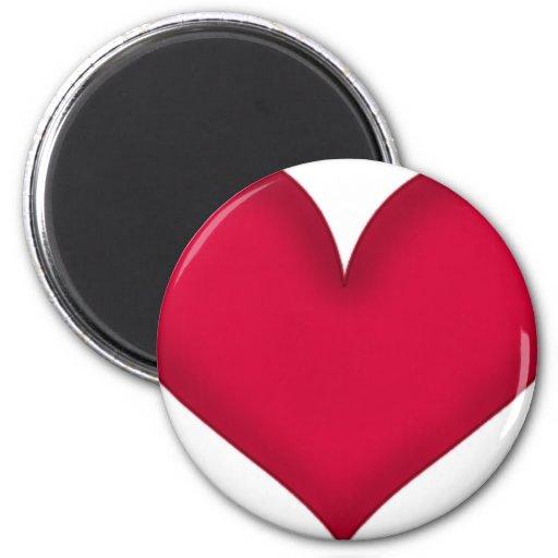 diseño del corazón imán para frigorifico