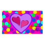 Diseño del corazón tarjetas personales