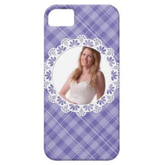 Diseño del cordón y de la tela escocesa - pétalo funda para iPhone SE/5/5s