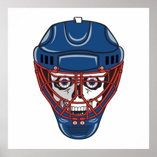 diseño del cráneo de la máscara del portero del ho poster
