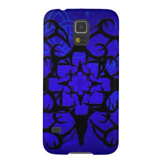 Diseño del cráneo de los ciervos en azul carcasa de galaxy s5