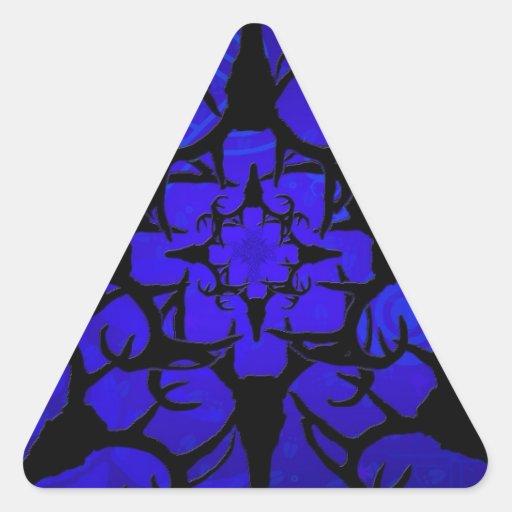 Diseño del cráneo de los ciervos en azul colcomanias triangulo personalizadas
