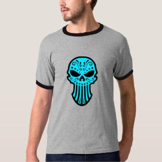 Diseño del cráneo del azúcar (azul) playera