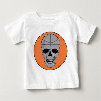 diseño del cráneo del baloncesto playera para bebé