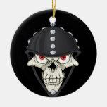 Diseño del cráneo del casco del motorista para los adorno de navidad