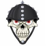 Diseño del cráneo del casco del motorista para los escultura fotografica