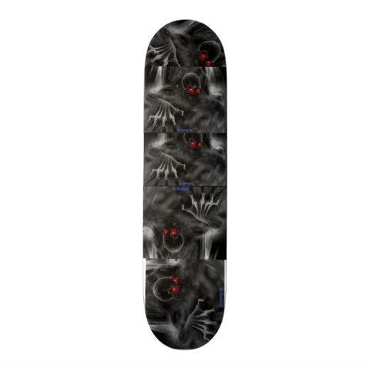 """Diseño del cráneo del ¾ de Skateborad 7"""" - Tabla De Patinar"""