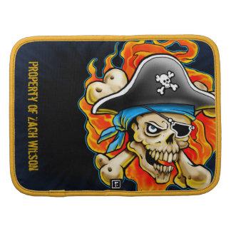 Diseño del cráneo del pirata organizadores