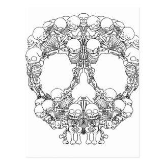 Diseño del cráneo - pirámide de cráneos tarjetas postales