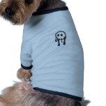 Diseño del cráneo ropa perro