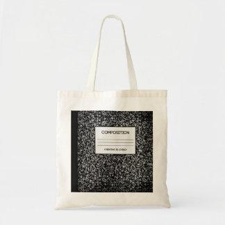 Diseño del cuaderno de la composición bolsa tela barata
