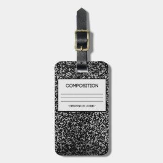 Diseño del cuaderno de la composición etiquetas bolsas