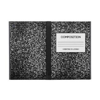 Diseño del cuaderno de la composición iPad mini cobertura