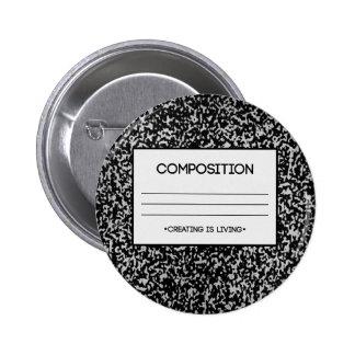 Diseño del cuaderno de la composición pin redondo 5 cm