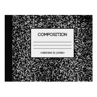Diseño del cuaderno de la composición tarjetas postales