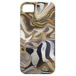 Diseño del cuarzo de la roca de la ágata iPhone 5 Case-Mate coberturas