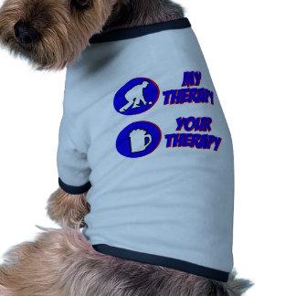 Diseño del cuenco del césped camisetas de perrito