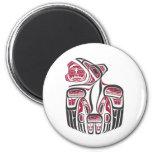 Diseño del cuervo del Haida Imanes