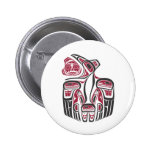 Diseño del cuervo del Haida Pins