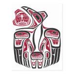 Diseño del cuervo del Haida Postal