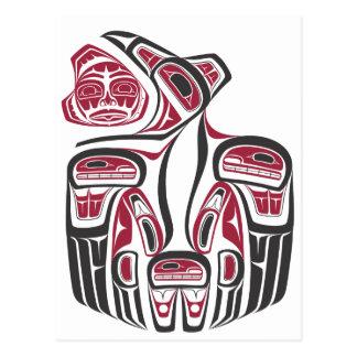 Diseño del cuervo del Haida Postales