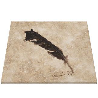Diseño del cuervo del Pájaro-amante de la pluma de Lienzo Envuelto Para Galerias