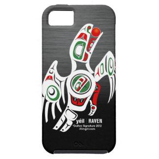 Diseño del cuervo del Tlingit iPhone 5 Funda